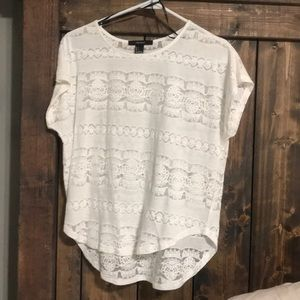 White sheer top in size small! Great condition!